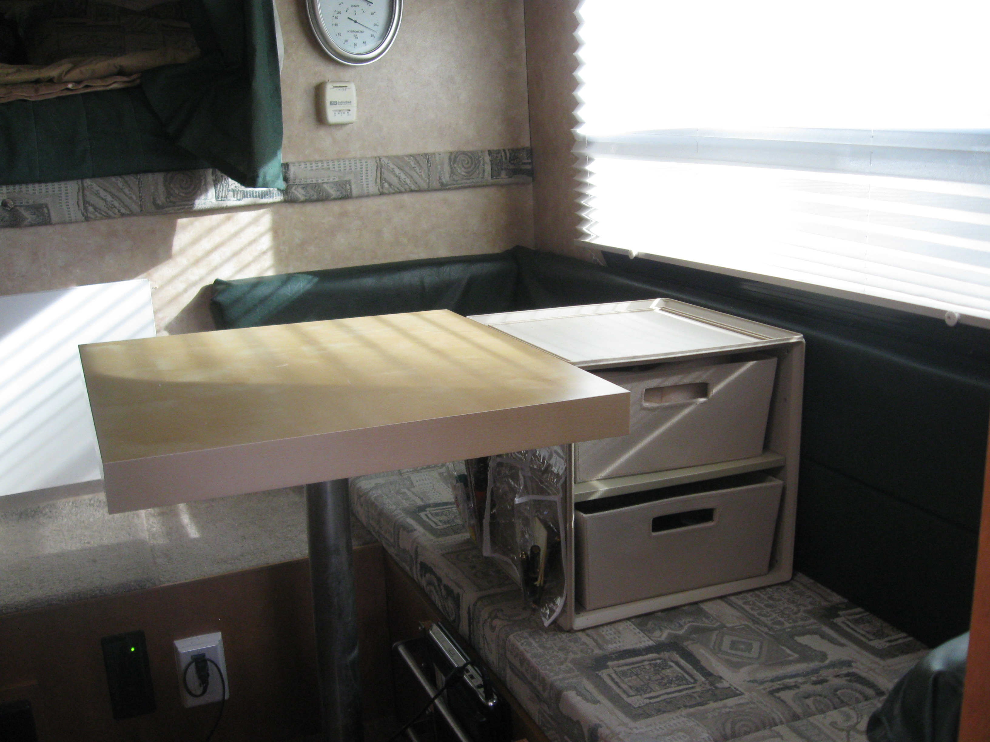 How to organize add storage and improve life in a truck for Truck camper interior ideas