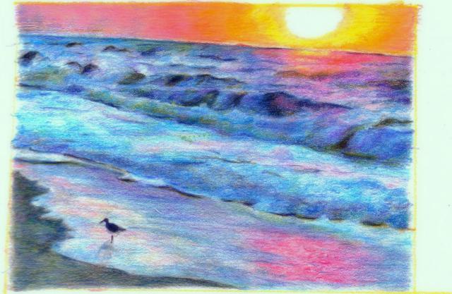 beach sunrise Softened